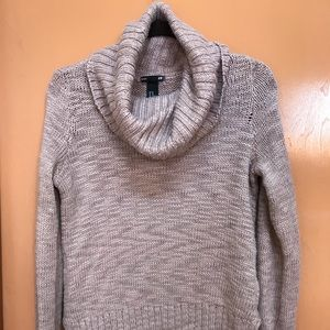 H&M taupe cowl neck hi lo sweater Size XS